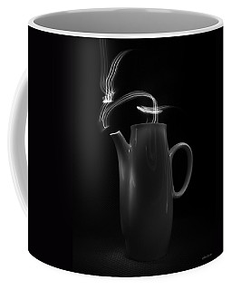 Black Coffee Pot - Light Painting Coffee Mug by Steven Milner