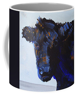 Black Cow Head Coffee Mug
