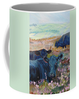 Black Cows On Dartmoor Coffee Mug