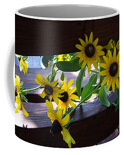Coffee Mug featuring the photograph Black-eyed Susans by Ellen Tully