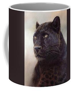 Black Leopard Painting Coffee Mug