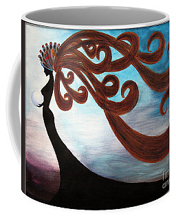 Coffee Mug featuring the painting Black Magic Woman by Jolanta Anna Karolska