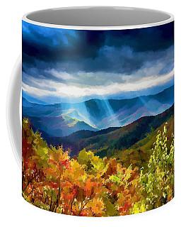 Black Mountains Overlook On The Blue Ridge Parkway Coffee Mug by John Haldane