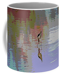 Black Neck Stilt Out In The Pond Coffee Mug by Tom Janca