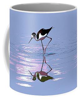 Black Neck Stilt Coffee Mug by Tom Janca