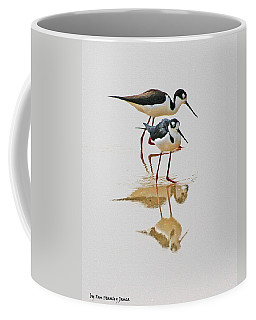 Black Neck Stilts Togeather Coffee Mug