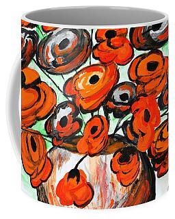 Coffee Mug featuring the painting Black Poppies by Ramona Matei