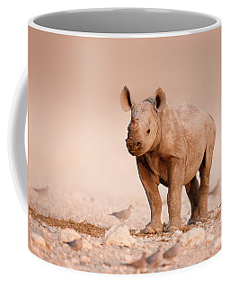 Black Rhinoceros Baby Coffee Mug