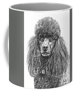 Black Standard Poodle Sketched In Charcoal Coffee Mug