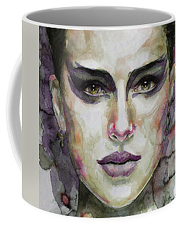 Coffee Mug featuring the painting Black Swan by Laur Iduc