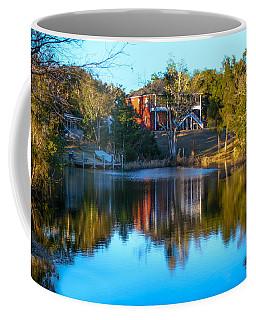 Black Water River In Blue Coffee Mug