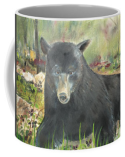 Coffee Mug featuring the painting Blackberry Scruffy 2 by Jan Dappen