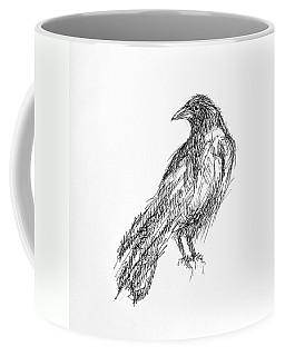 Coffee Mug featuring the drawing Blackbird  by Nicole Gaitan