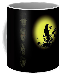 Blackbird Singing In The Dead Of Night Coffee Mug by David Dehner