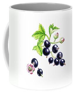 Blackcurrant Botanical Study Coffee Mug by Irina Sztukowski