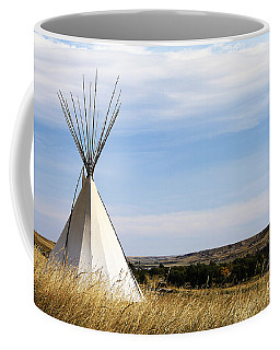 Coffee Mug featuring the photograph Blackfoot Teepee by Alyce Taylor