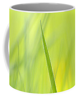 Blades Of Grass - Green Spring Meadow - Abstract Soft Blurred Coffee Mug