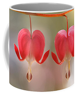 Coffee Mug featuring the photograph Bleeding Hearts Macro Photograph by Peggy Collins
