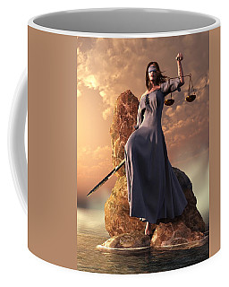 Blind Justice With Scales And Sword Coffee Mug