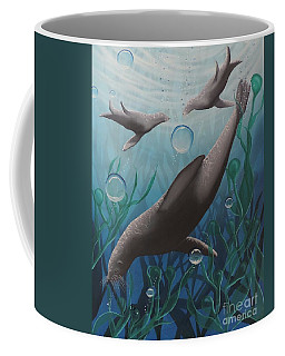 Coffee Mug featuring the painting Bliss by Dianna Lewis