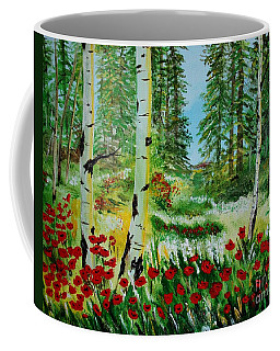 Coffee Mug featuring the painting Bliss by Leslie Allen