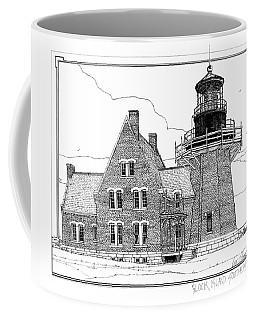 Coffee Mug featuring the drawing Block Island Southeast Light by Ira Shander