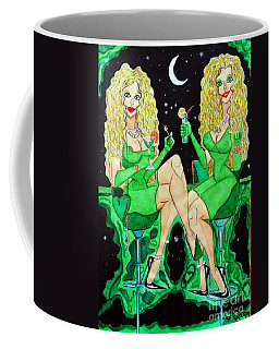 Blond Girls At Disco Coffee Mug by Don Pedro De Gracia