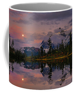 Bloodmoon Rise Over Picture Lake Coffee Mug by Eti Reid