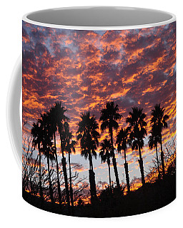 Bloody Sunset Over The Desert Coffee Mug