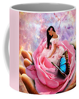 Bloom In The Hand Of The Father Coffee Mug by Dolores Develde