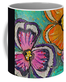 Coffee Mug featuring the painting Blooming Flowers by Joan Reese