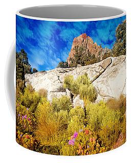 Coffee Mug featuring the photograph Blooming Nevada Desert Near Ely by Gunter Nezhoda