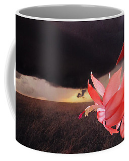 Blooms Against Tornado Coffee Mug by Katie Wing Vigil