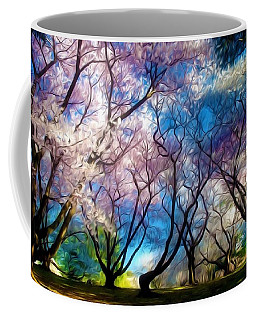 Blossom Cherry Trees Over Spring Sky Coffee Mug