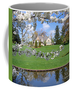 Blossom-framed House Coffee Mug by Ann Horn