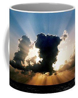 Coffee Mug featuring the photograph Blue And Gold Rays Sunset In The Gulf Of Mexico Off The Coast Of Louisiana by Michael Hoard