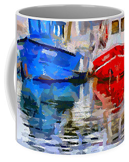 Blue And Red Coffee Mug