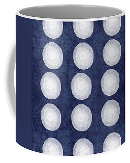 Blue And White Shibori Balls Coffee Mug