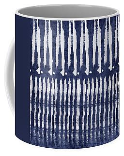 Blue And White Shibori Design Coffee Mug