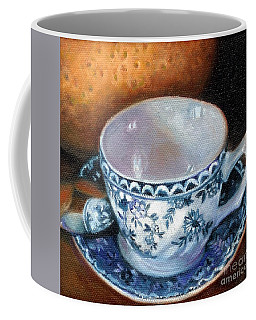 Blue And White Teacup With Spoon Coffee Mug