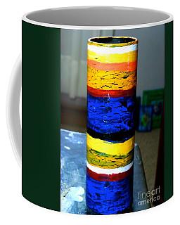 Blue And Yellow Vase Coffee Mug