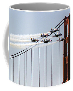 Blue Angels And The Bridge Coffee Mug