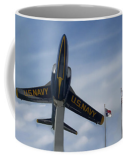 Coffee Mug featuring the photograph Blue Angels Tribute by Victor Montgomery