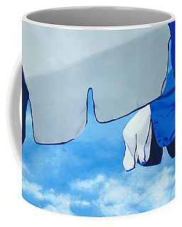 Blue Beach Umbrellas 2 Coffee Mug