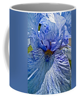 Coffee Mug featuring the photograph Blue Bearded Iris by Joann Copeland-Paul