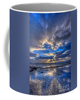 Coffee Mug featuring the photograph Blue by Beth Sargent