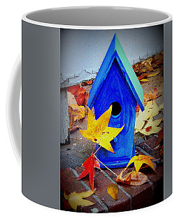 Coffee Mug featuring the photograph Blue Bird House by Rodney Lee Williams