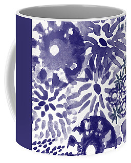 Blue Bouquet- Contemporary Abstract Floral Art Coffee Mug