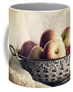 Blue Bowl Of Apples Coffee Mug