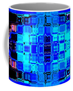 Coffee Mug featuring the digital art Blue Bubble Glass by Anita Lewis